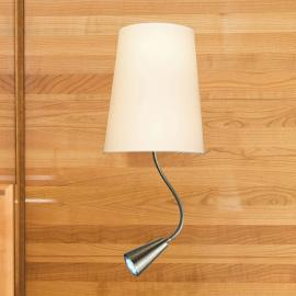 Applique Chino avec liseuse LED