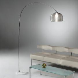 Lampadaire GRATA en métal, avec pied en marbre
