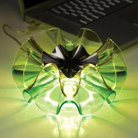 Lampe de table design LED Flamenca en vert