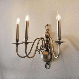 Applique antique Holandesas à 3 lampes
