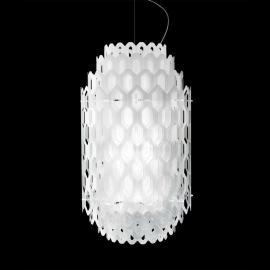 Suspension LED design Chantal, blanc