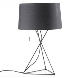 Lampe à poser New York en textile noir