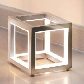 Lampe à poser LED Delux, cube, 12cm