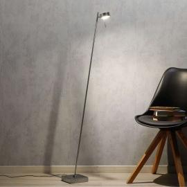 Lampadaire LED chromé Bling, dimmable