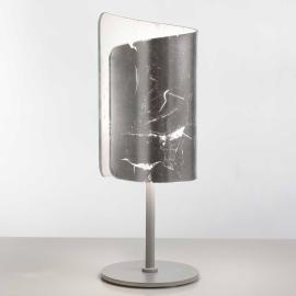 Ravissante lampe à poser Papiro argentée