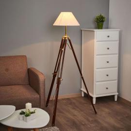 Magnifique lampadaire STATIV abat-jour blanc