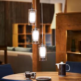 Suspension décorative 3 lampes DUO 1 ronde