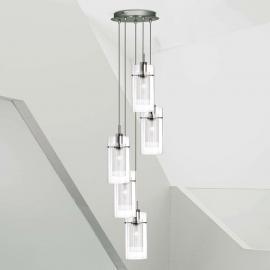 Suspension décorative 5 lampes DUO 1 ronde