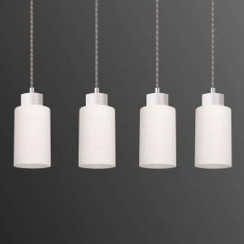 Suspension à quatre lampes Bosco blanc