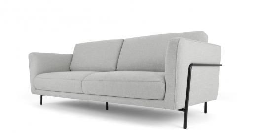 Everson, canapé 3 places, gris acier