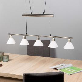 Suspension réglable en hauteur, à 5 lampes