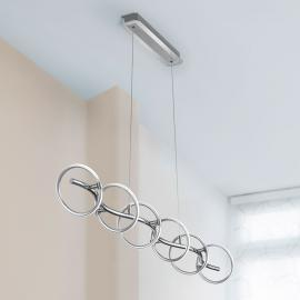 Suspension LED Olympus dimmable 6 lampes