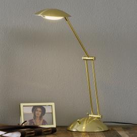 Lampe à poser Calcio laiton mat, ajustable