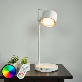 Lampe à poser LED IDual Jasmine, blanc brillant