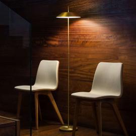 Lampadaire LED décoratif Mayfair, doré