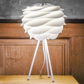 Lampe à poser blanche Carmina avec trépied