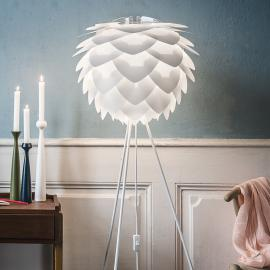 Lampadaire à trépied Silvia medium, blanc