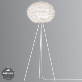 Lampadaire à trépied Eos large, abat-jour blanc