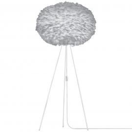 Lampadaire Eos X-large à trépied et abat-jour gris