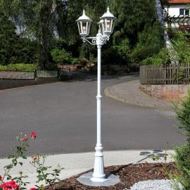Lampadaire blanc à trois lampes Lieva
