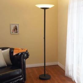 Lampadaire LED Ragna de couleur rouille