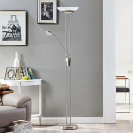 Lampadaire LED Yveta avec liseuse