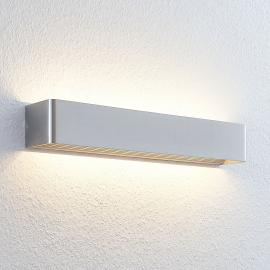 Longue applique LED Lonisa en nickel mat