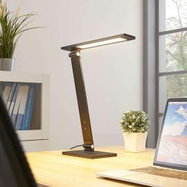 Lampe de bureau LED Salome dimmable, noire