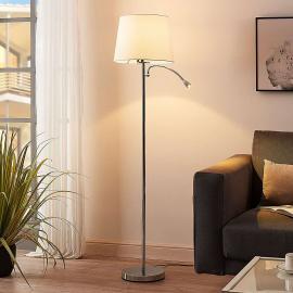 Benjiro - lampadaire en tissu à liseuse LED