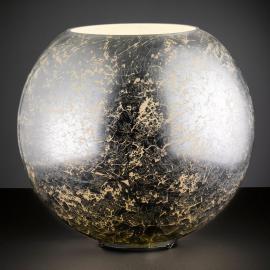 Lampe à poser sphérique en verre argenté Fara