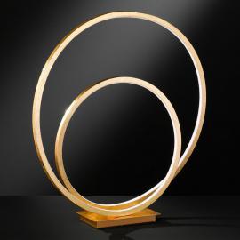 Lampe à poser LED dorée Loris avec variateur