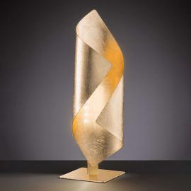 Élégante lampe à poser LED Safira en doré brillant