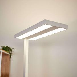 Lampadaire LED bureau Logan avec variateur, blanc