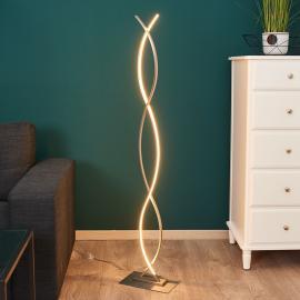 Lampadaire LED Bobi, de forme galbée