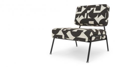 Knox, fauteuil d'appoint, imprimé géométrique