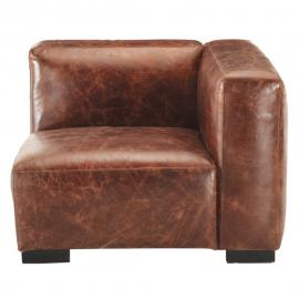 Accoudoir droit de canapé en cuir marron John