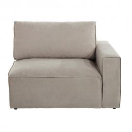 Accoudoir droit de canapé en tissu beige Malo