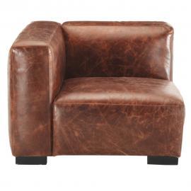 Accoudoir gauche de canapé en cuir marron John