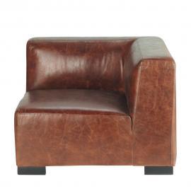 Angle de canapé en cuir marron John