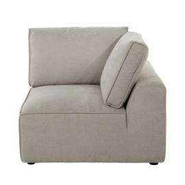 Angle de canapé en tissu beige Malo