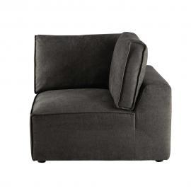 Angle de canapé en tissu taupe grisé Malo
