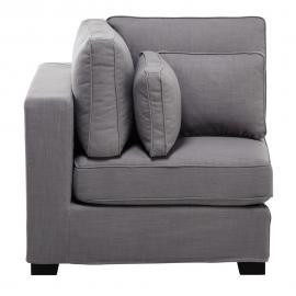 Angle de canapé modulable gris clair Milano