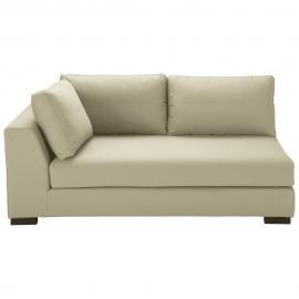 Angle gauche de canapé-lit en coton beige Terence