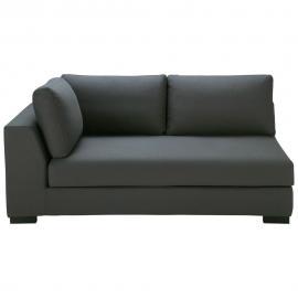 Angle gauche de canapé-lit en coton gris ardoise Terence