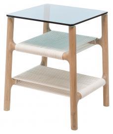 Table d'appoint Fawn - Chêne massif - Chêne clair / Bleu, Gazzda