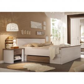 Combinaison de chambre à coucher Linus - Blanc / Truffier, Maison Belfort