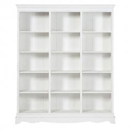Bibliothèque en paulownia blanc Joséphine