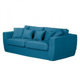 Grand canapé - Montargil II Tissu - Bleu jean, roomscape