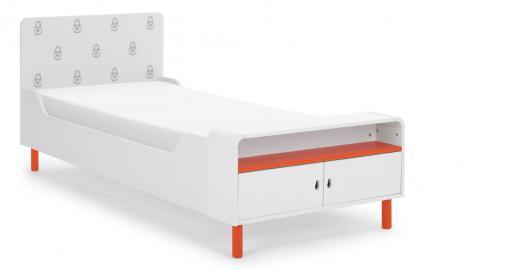 Matryoshka, lit avec compartiment de rangement, blanc
