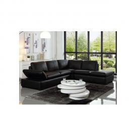 Vente-unique Canapé d'angle en cuir Onyx Ii - Noir - Angle droit